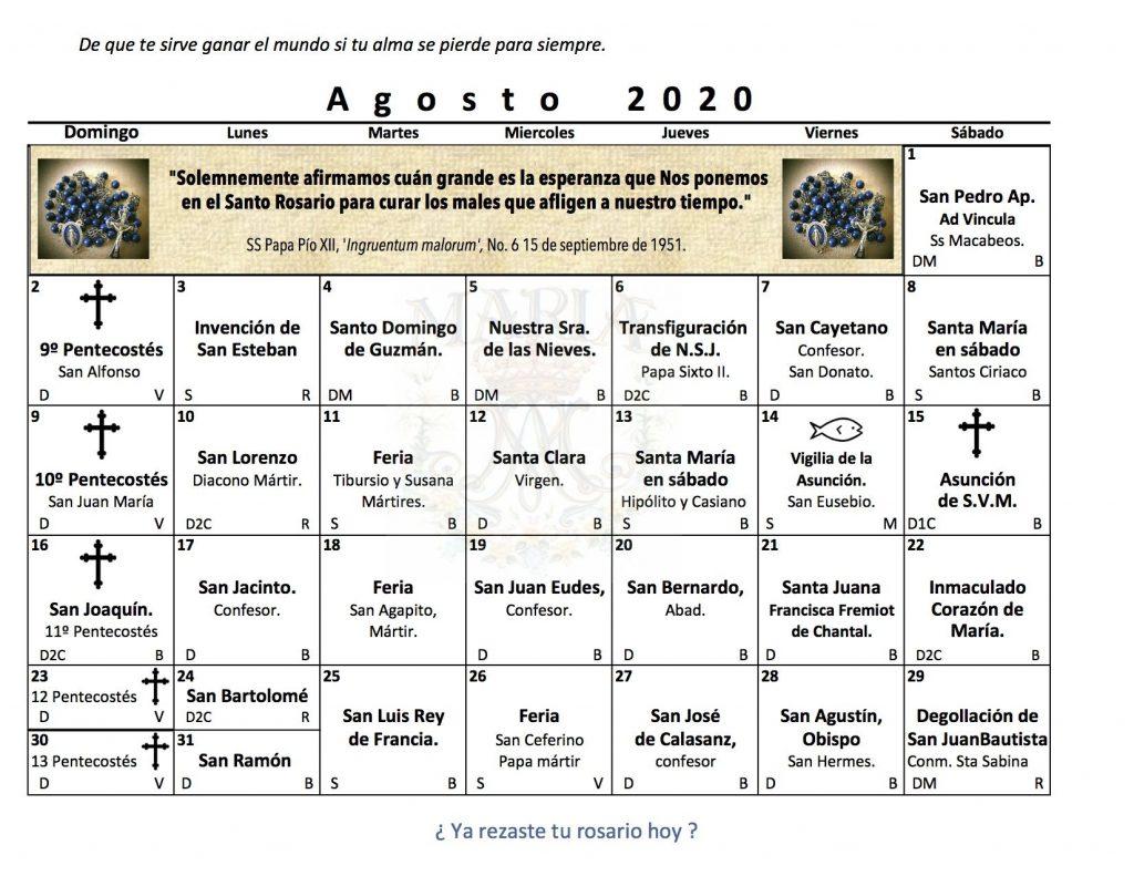 Santos en Agosto