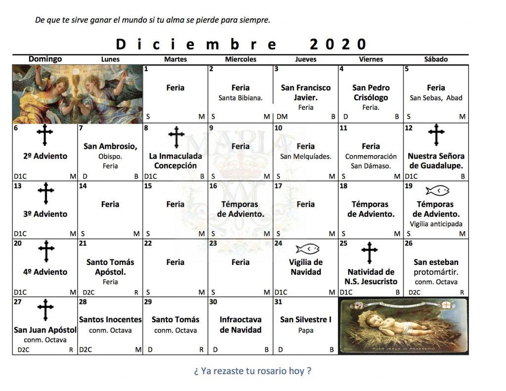 Santos en Diciembre