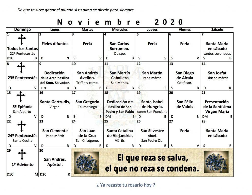 Santos en Noviembre