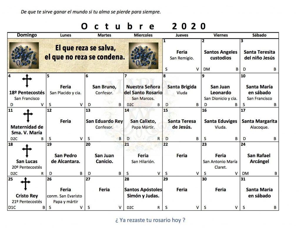 Santos en Octubre