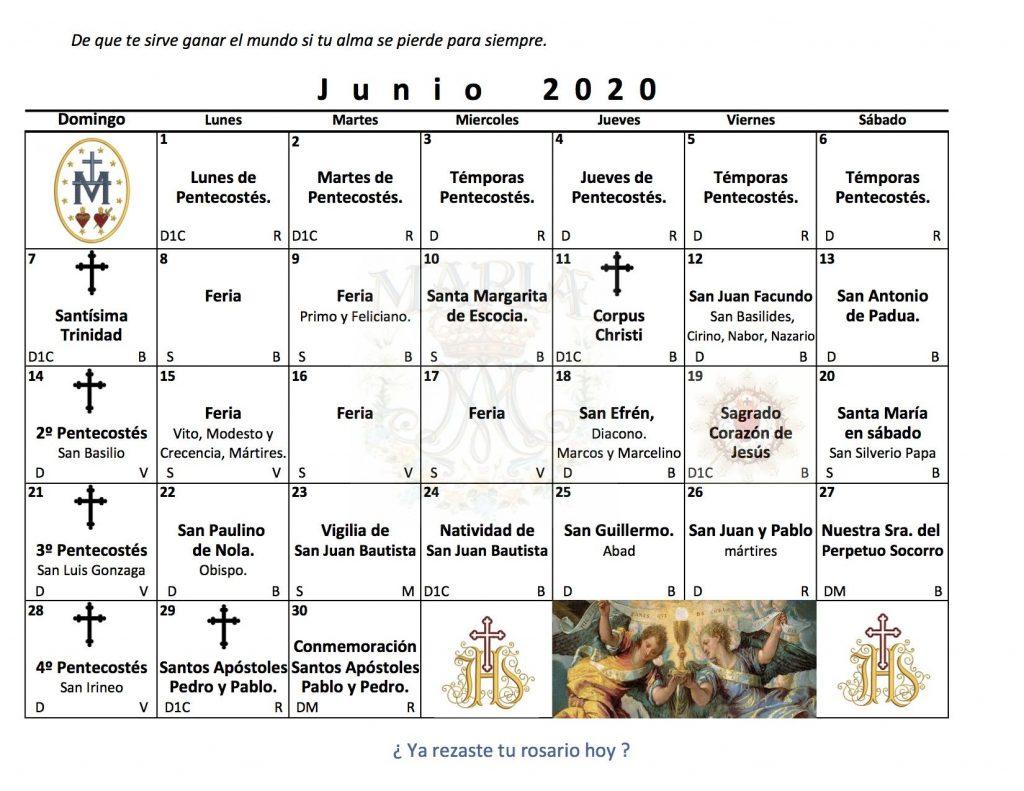 santos en Junio
